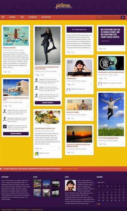 Responsive Pinterest Clone WordPress Theme - Pintores