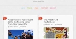 Minimalistic Tumblr Wordpress Theme - The Muse