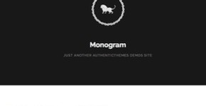 Minimalistic Tumblr Blog Theme - Monogram