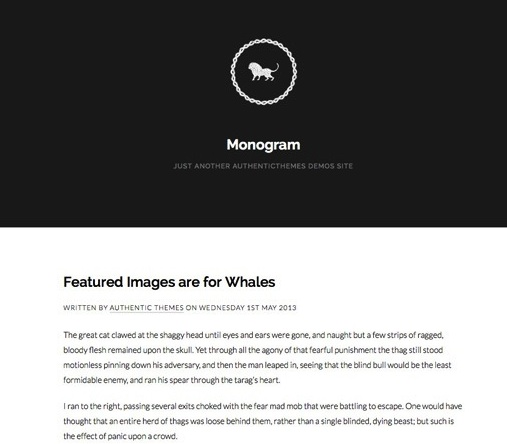 Minimalistic Tumblr Blog Theme - Monogram