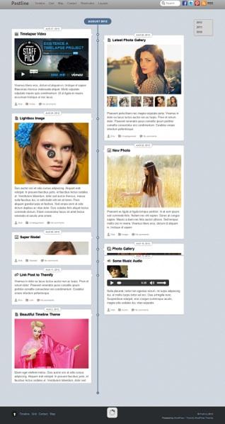 Responsive Facebook-Inspired WordPress Theme - Postline