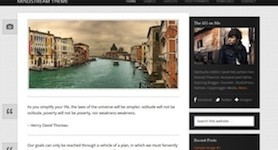 Microblogging Theme - Mindstream