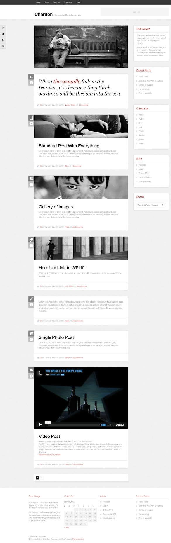 Responsive Tumblr-Style WordPress Theme - Charlton