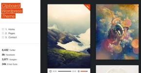 Tumblog Style Wordpress Theme - Clipboard