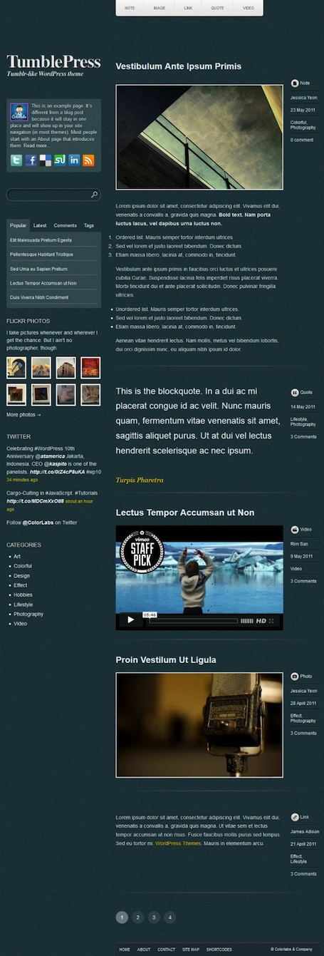 Responsive Tumblr Clone - TumblePress