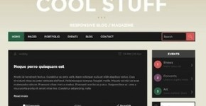 Responsive Tumblr Theme - Cool Stuff
