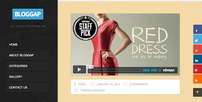 Responsive Tumblr Theme - Bloggap