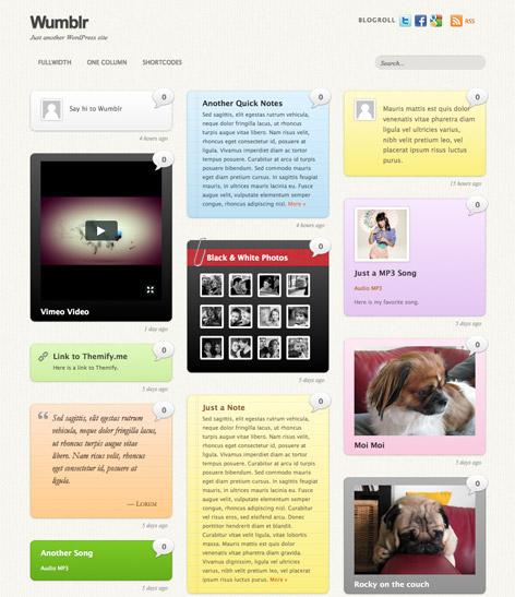 Responsive Tumblog WordPress Theme - Wumblr